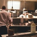 restaurant employees in the kitchen