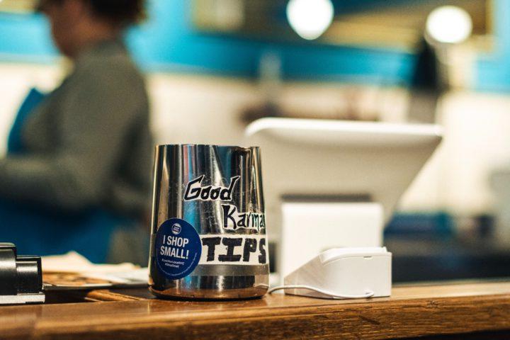 Tip Jar in a Cafe